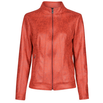 material Women Leather jackets / Imitation leather Desigual COMARUGA Red