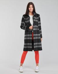 material Women coats Desigual CHRISTIE Black