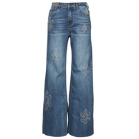 material Women bootcut jeans Desigual OH MY FLOWER Blue