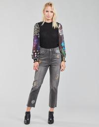 material Women straight jeans Desigual LAGUN Grey