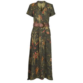 material Women Long Dresses Desigual AMSTERDAM Kaki