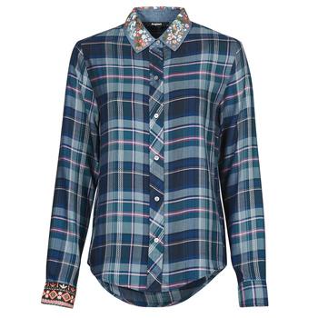 material Women Shirts Desigual SUSAN SONTAG Blue