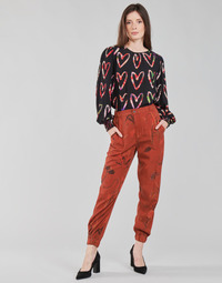 material Women Wide leg / Harem trousers Desigual CAMOTIGER Red