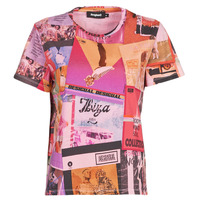 material Women short-sleeved t-shirts Desigual PROCLAIM Multicolour