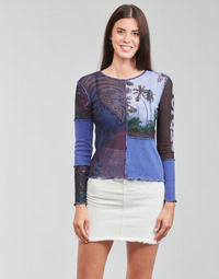 material Women Long sleeved shirts Desigual PATCHAFRICA Blue