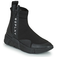 Shoes Women High top trainers Replay MIKI SABLE Black