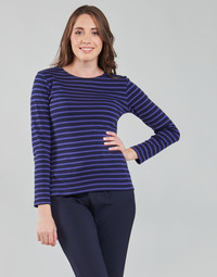 material Women Long sleeved shirts Armor Lux LESCONIL HYZ Blue