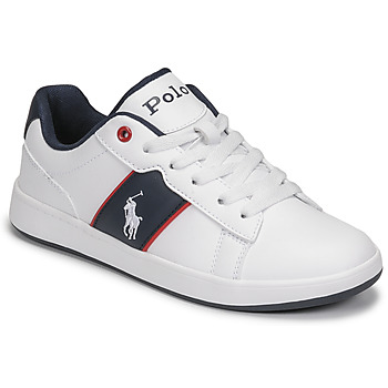 Shoes Children Low top trainers Polo Ralph Lauren OAKVIEW II White