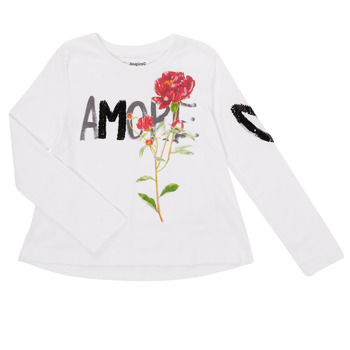 material Girl Long sleeved shirts Desigual FLOR White