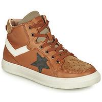 Shoes Boy High top trainers Bisgaard ISAK Cognac
