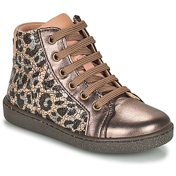 Shoes Girl High top trainers Bisgaard GAIA Leopard / Gold