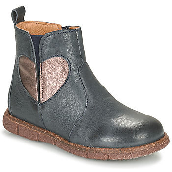 Shoes Girl Mid boots Bisgaard MAGGIE Marine / Silver