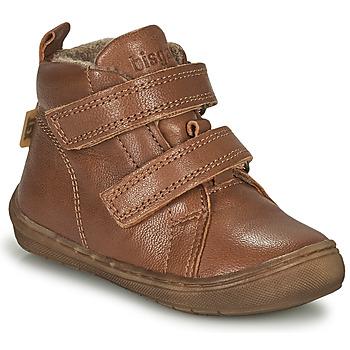 Shoes Boy High top trainers Bisgaard DEE Cognac