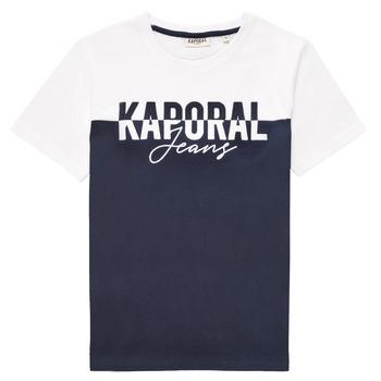 material Boy short-sleeved t-shirts Kaporal JILEY White