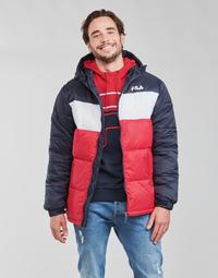 material Men Duffel coats Fila SCOOTER PUFFER JACKET Red / Marine / White