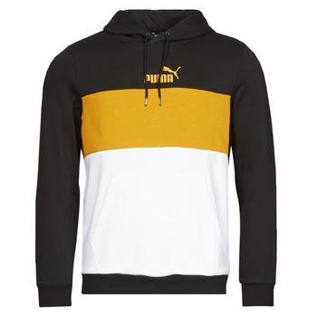 material Men sweaters Puma ESS+ COLORBLOCK HOODIE FL Black / Yellow