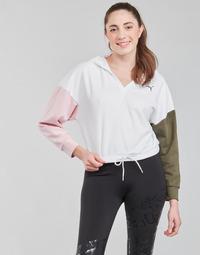 material Women sweaters Puma MODERN SPORT HOODIE White / Multicolour