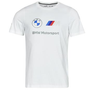 material Men short-sleeved t-shirts Puma BMW MMS ESS LOGO TEE White