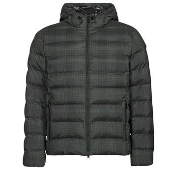 material Men Duffel coats Geox SANDFORD Black / Khaki