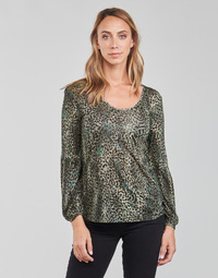 material Women Blouses One Step FT10021 Green