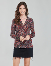 material Women Blouses One Step FT10191 Red / Multicolour