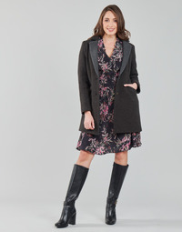 material Women coats One Step FT44061 Kaki / Grey
