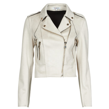 material Women Leather jackets / Imitation leather Morgan GRENAD White