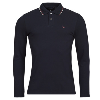 material Men long-sleeved polo shirts Emporio Armani 8N1FB5 Marine