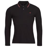 material Men long-sleeved polo shirts Emporio Armani 8N1FB5 Black