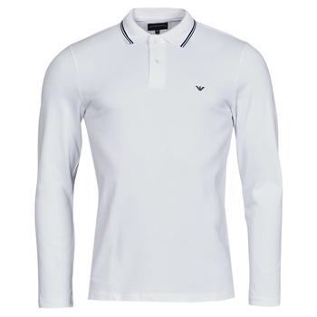 material Men long-sleeved polo shirts Emporio Armani 8N1FB5 White