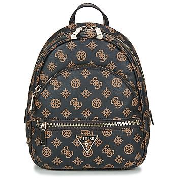 Bags Women Rucksacks Guess MANHATTAN BACKPACK Brown