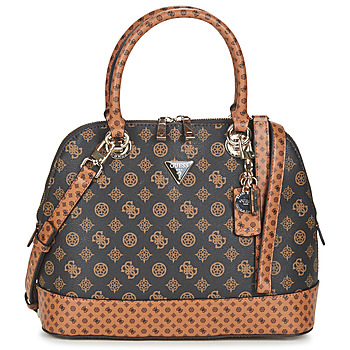 Bags Women Handbags Guess CESSILY DOME SATCHEL Brown