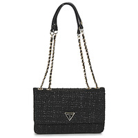 Bags Women Shoulder bags Guess CESSILY CONVERTIBLE XBODY FLAP Black