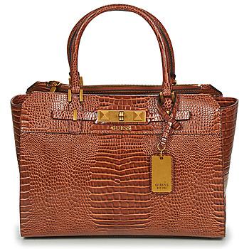 Bags Women Handbags Guess RAFFIE CARRYALL Cognac