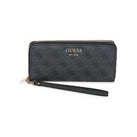 Bags Women Wallets Guess VIKKY SLG LARGE ZIP AROUND Black