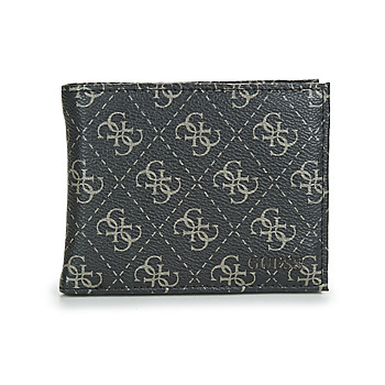 Bags Men Wallets Guess VEZZOLA SLG BILLFORD WITH COIN POCKET Grey / Black