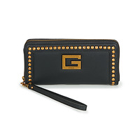 Bags Women Wallets Guess BLING SLG LARGE ZIP AROUND Black