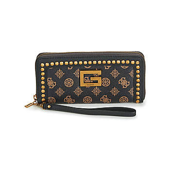 Bags Women Wallets Guess BLING SLG LARGE ZIP AROUND Brown