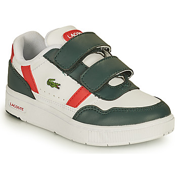 Shoes Children Low top trainers Lacoste T-CLIP 0121 2 SUI White / Green / Red