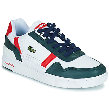 Shoes Children Low top trainers Lacoste T-CLIP 0121 2 SUJ White / Green / Red
