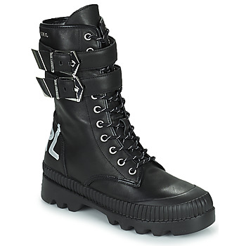 Shoes Women Mid boots Karl Lagerfeld TREKKA II HI CUFF BUCKLE BOOT Black