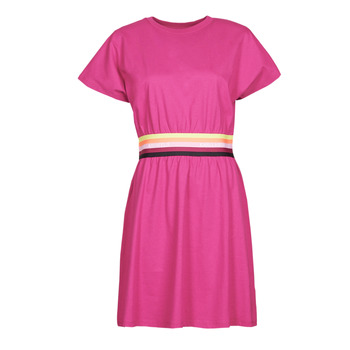 material Women Short Dresses Karl Lagerfeld LOGO TAPE JERSEY DRESS Pink