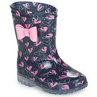 Shoes Girl Wellington boots Be Only LOVANA FLASH Pink / Marine