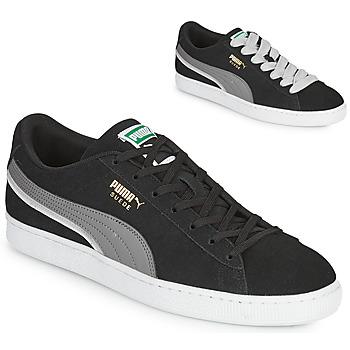 Shoes Men Low top trainers Puma SUEDE TRIPLEX Black / Grey