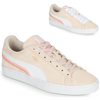 Shoes Women Low top trainers Puma SUEDE TRIPLEX Pink / White