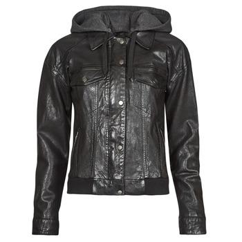 material Women Leather jackets / Imitation leather Oakwood RUBY 6 Black