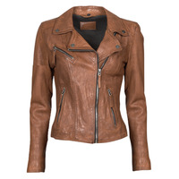 material Women Leather jackets / Imitation leather Oakwood CLIPS 6 Brown