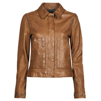 material Women Leather jackets / Imitation leather Oakwood STAMP6 Brown