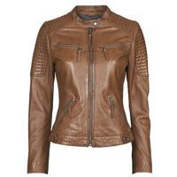 material Women Leather jackets / Imitation leather Oakwood HILLS6 Cognac