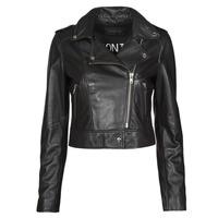 material Women Leather jackets / Imitation leather Oakwood NIKKO Black